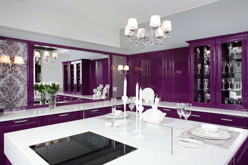Simple tips for painting your kitchen genesis pro painting for Purple paint in kitchen